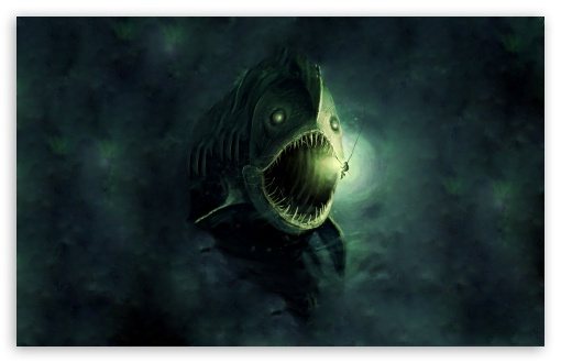 Download Fish Monster UltraHD Wallpaper