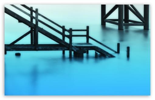 Download Stairways Towards Water UltraHD Wallpaper