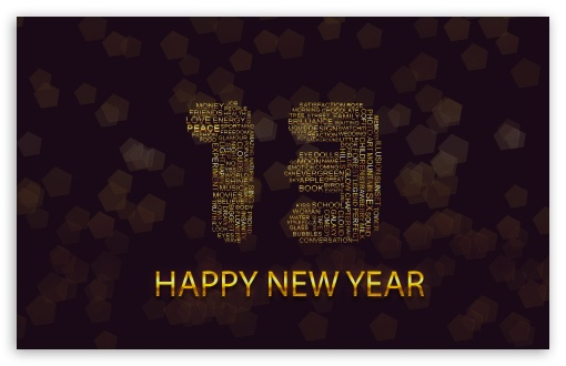 Download Happy New Year 2013 Greetings UltraHD Wallpaper
