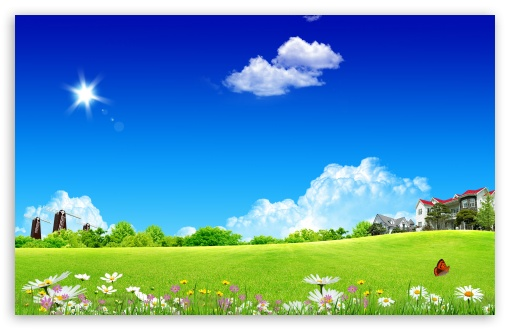 Download Meadow Skyscapes UltraHD Wallpaper