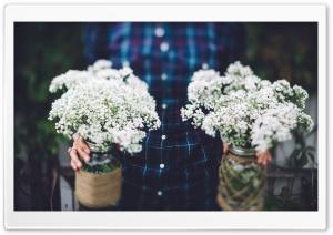 Vintage Wedding Flowers in Jars