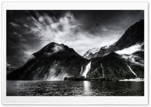Amazing Waterfall, Monochrome