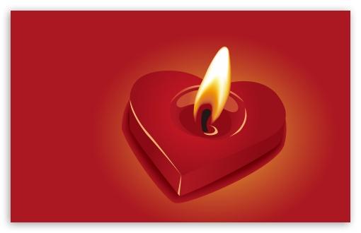 Download Candle Heart UltraHD Wallpaper