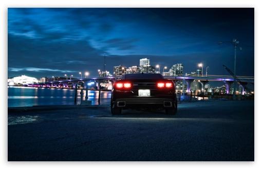 Download Chevrolet Camaro, City Night UltraHD Wallpaper