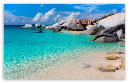 Download Summer Beach Scene UltraHD Wallpaper