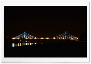 Blue Wonder Bridge In Germany