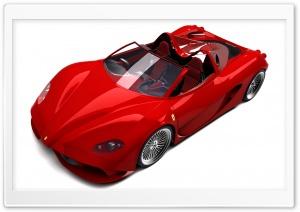 3D Red Ferrari Convertible