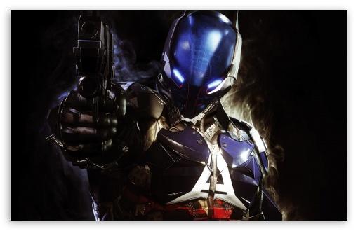 Download Batman Arkham Knight Pointing Gun UltraHD Wallpaper