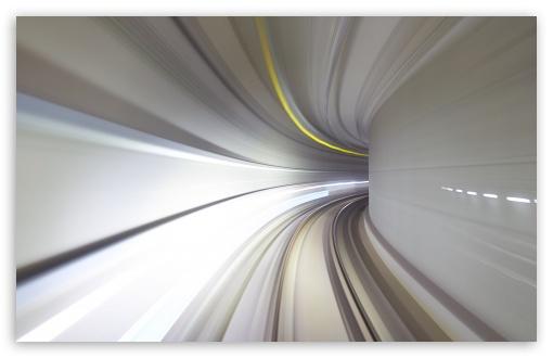 Download Subway Tunnel High Speed Motion Blur UltraHD Wallpaper