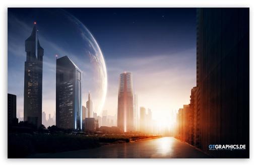 Download Metro City Eve UltraHD Wallpaper