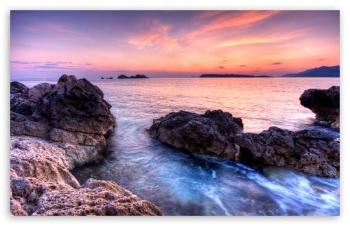 Download Purple Evening Skies UltraHD Wallpaper