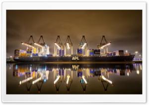 12 Cranes And A Ship   APL...