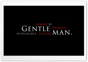 Be a Gentleman