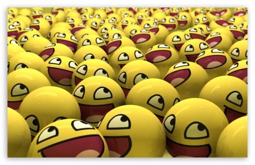 Download Funny Smileys UltraHD Wallpaper