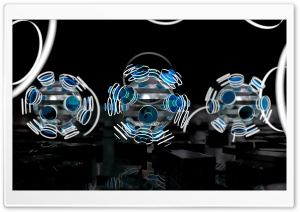 Focused Spheres - Blue