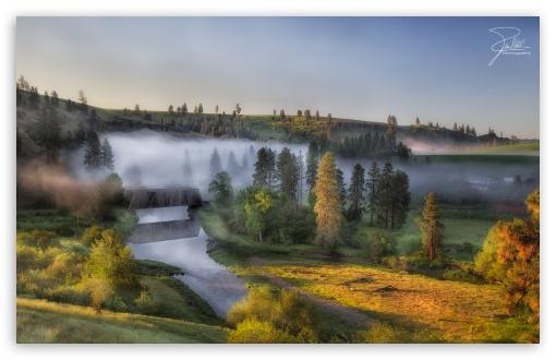 Download Morning at Palouse River UltraHD Wallpaper