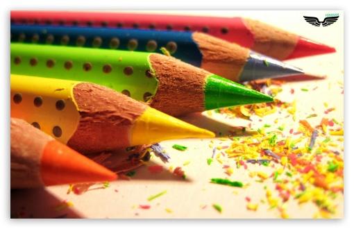 Download Colored Pencils UltraHD Wallpaper