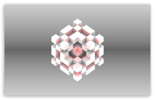 Download Cube Heart UltraHD Wallpaper