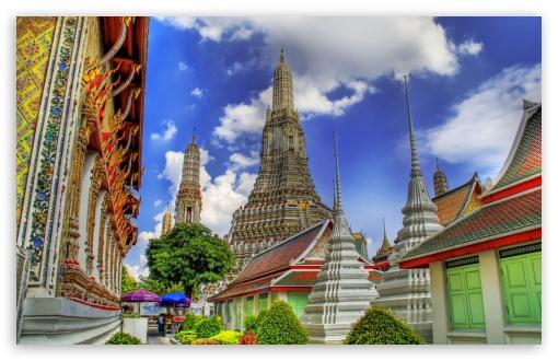 Download Temple In Bankok, Thailand UltraHD Wallpaper