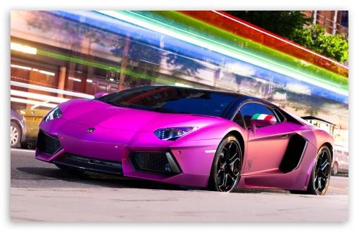 Download Pink Aventador UltraHD Wallpaper