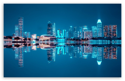 Download Beautiful City Night UltraHD Wallpaper