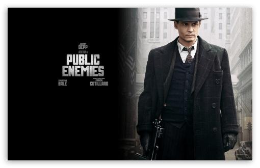 Download Johnny Depp Public Enemies UltraHD Wallpaper
