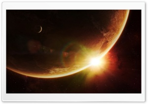Space Sunrise Art