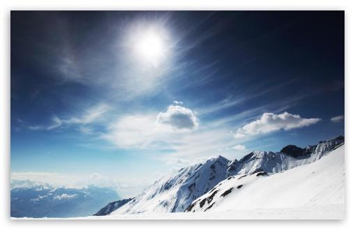 Download Mountain Top In Winter UltraHD Wallpaper