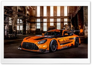 Orange Mercedes AMG GT3 Race...
