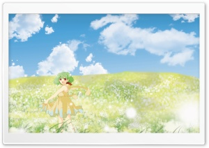 Anime Girl In Flower Field