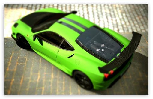 Download Ferrari F430 Scuderia Matte Green GT5 UltraHD Wallpaper