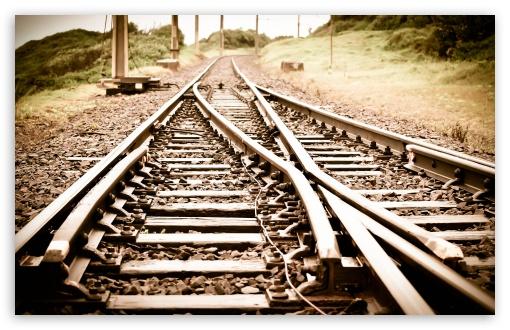 Download Train Tracks UltraHD Wallpaper