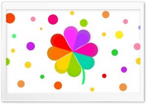 Cute Rainbow Four Leaf Clover