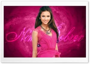 Nina Dobrev In Pink Dress