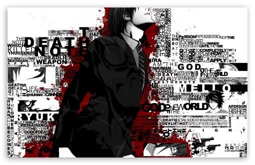 Download Death Note Typography UltraHD Wallpaper