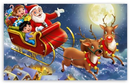 Download Christmas, Santa Claus UltraHD Wallpaper