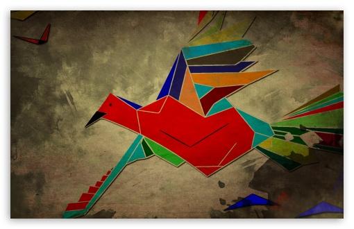 Download Red Bird UltraHD Wallpaper