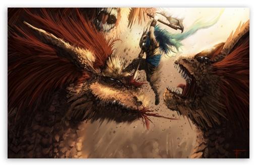 Download Monsters Fight UltraHD Wallpaper