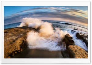 Wave Crashing on Rock