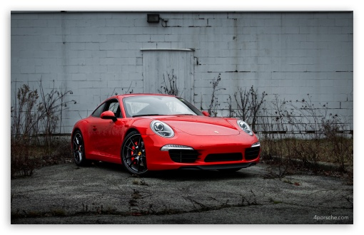 Download 2013 Porsche 911 (991) with black wheels UltraHD Wallpaper