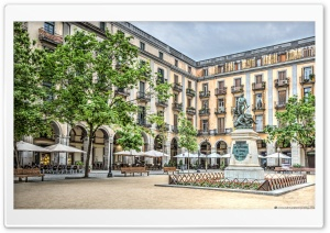Independence Square in Girona...