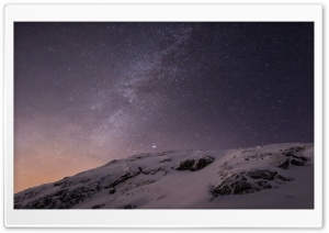 Apple iOS Mountains and Galaxy