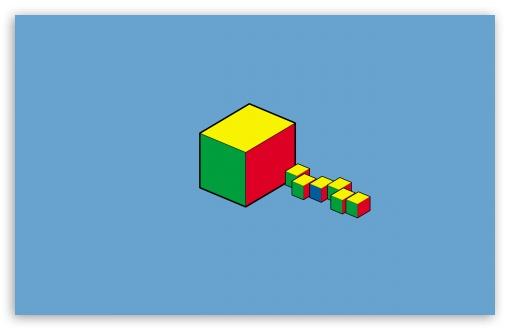 Download Cube Art UltraHD Wallpaper
