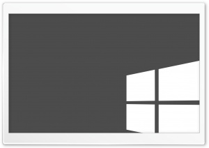 Grey and White Windows Flag