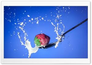Strawberry   Spoon   Milk