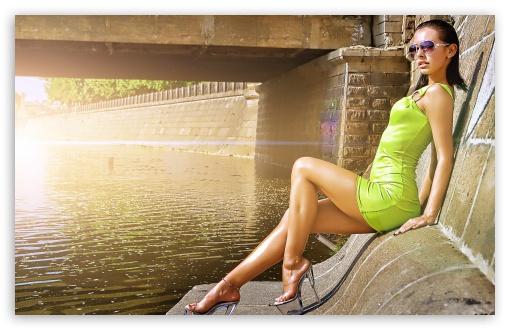 Download Girl Wearing A Sexy Mini Dress UltraHD Wallpaper