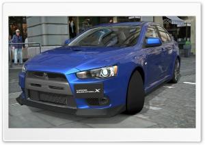 Lancer Evolution X Blue
