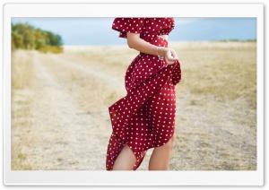Woman in Red Polka Dot Dress