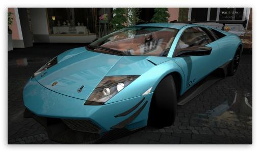 Download Lamborghini Murcielago LP670-4 SV Turquesa UltraHD Wallpaper