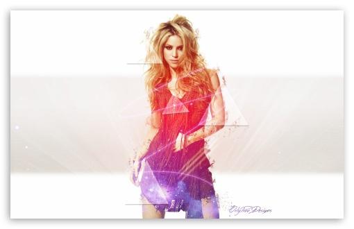 Download Shakira Light effects UltraHD Wallpaper